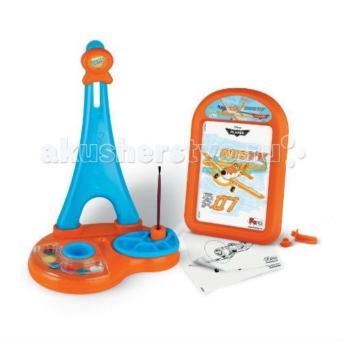 Принадлежности для рисования Faro Художественный набор с мольбертом Disney Самолеты игрушечная посуда faro большой набор посуды