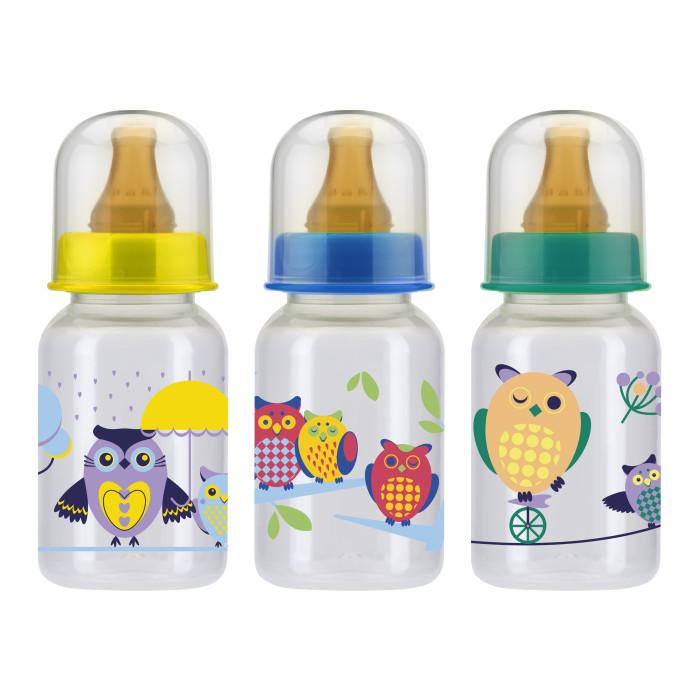 Бутылочки Курносики пластик латексная соска 125 мл бутылочки chicco стекло соска латекс 150 мл
