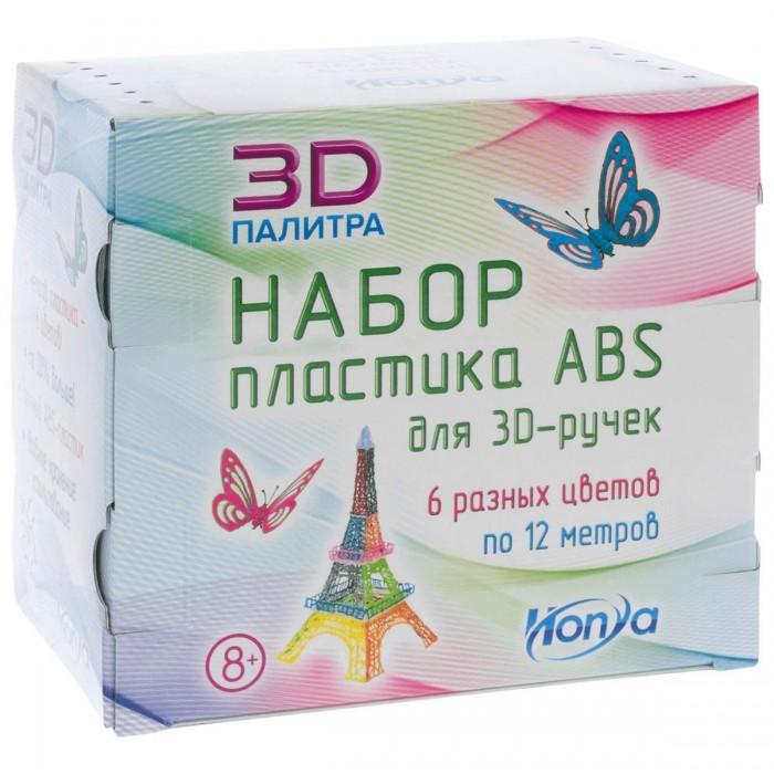 Наборы для творчества Honya Набор пластика ABS. 6 различных цветов по 12 м