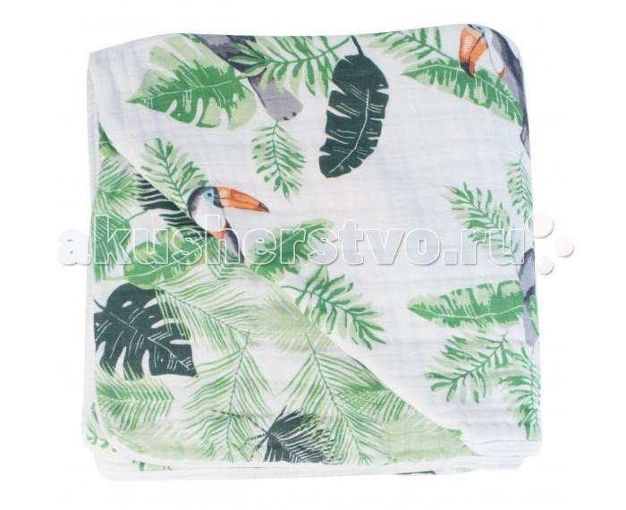 Постельные принадлежности , Одеяла Bebe au Lait муслиновое Rio and Palms 122х122 см арт: 545151 -  Одеяла