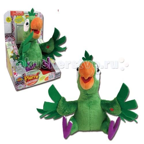 Интерактивная игрушка Dragon Говорящий ПьерГоворящий ПьерИнтерактивная игрушка Dragon Говорящий Пьер - забавный попугай из популярного мобильного приложения. Теперь с ним можно играть не только на экране телефона. Держите Пьера в руках, нажимайте на сенсоры, расположенные на игрушке, и слушайте, что он говорит.   Попугай умеет издавать 8 интерактивных звуков, а также записывает вашу речь и повторяет ее забавным голосом. Все становится веселее, если с вами Говорящий Пьер!   Высота игрушки: 31 см.<br>