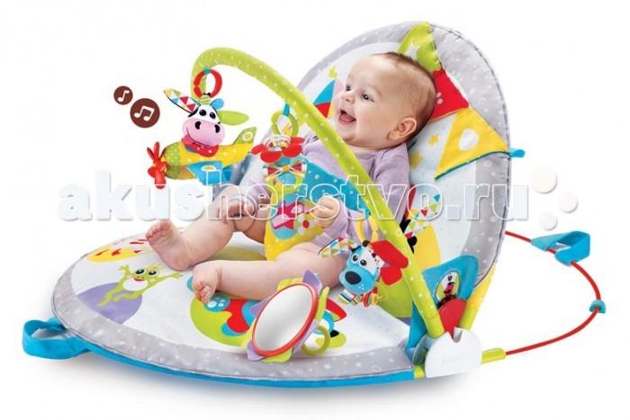 Купить Развивающие коврики, Развивающий коврик Yookidoo трансформер Мои друзья круглый с дугами