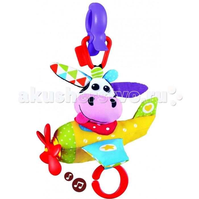 Подвесные игрушки Yookidoo Коровка в самолете мягкая музыкальная мягкие игрушки tomy музыкальная мягкая игрушка музыкальная коровка
