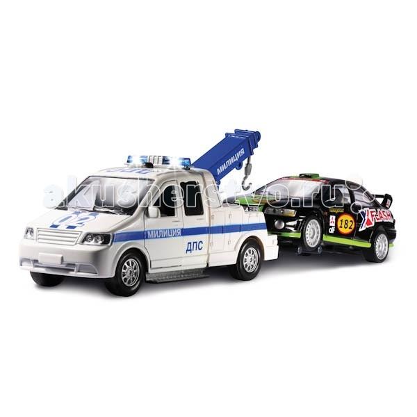 Машины Технопарк Набор Эвакуатор ДПС с машинкой CT1241W технопарк набор полицейская часть с машинкой и 2 мя фигурками технопарк