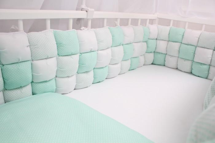 Комплект в кроватку Happy Family Свежая мята (6 предметов)