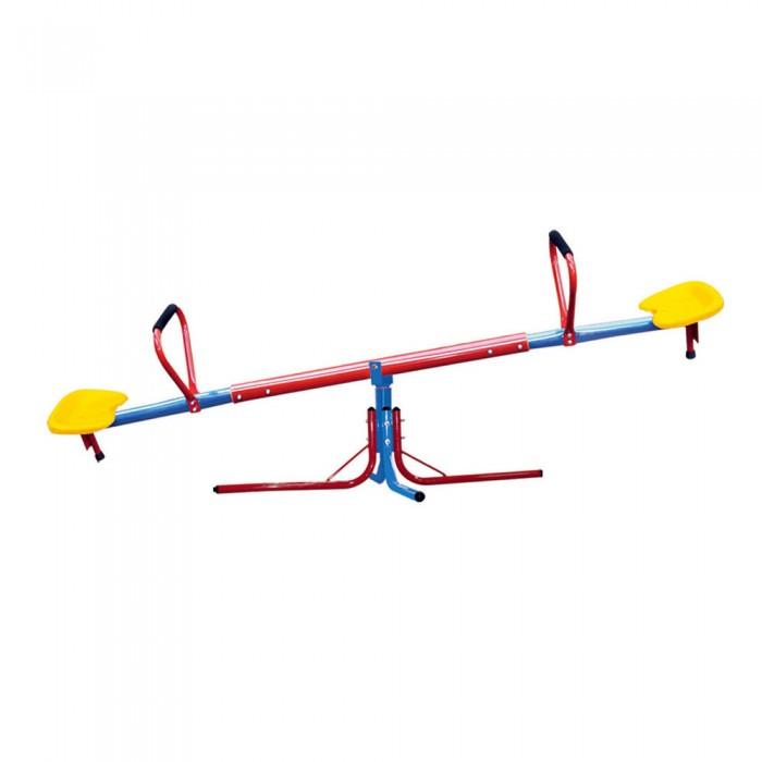 Качели DFC весы/карусель SeesawКачели<br>Качели-весы/карусель Seesaw - качалка с дополнительной возможностью вращения (360 град.), что превращает ее в качалку-карусель. Благодаря укрепителям качели могут выполнять функцию карусели. Удобные пластмассовые сиденья с резиновыми ручками гарантируют безопасную и удобную игру. Для детей от 3 до 10 лет.
