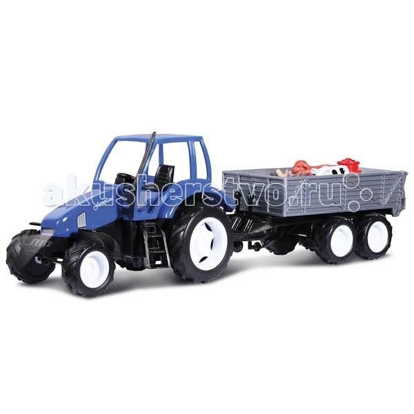 Машины Технопарк Трактор с прицепом tongde технопарк в блистере трактор в72180