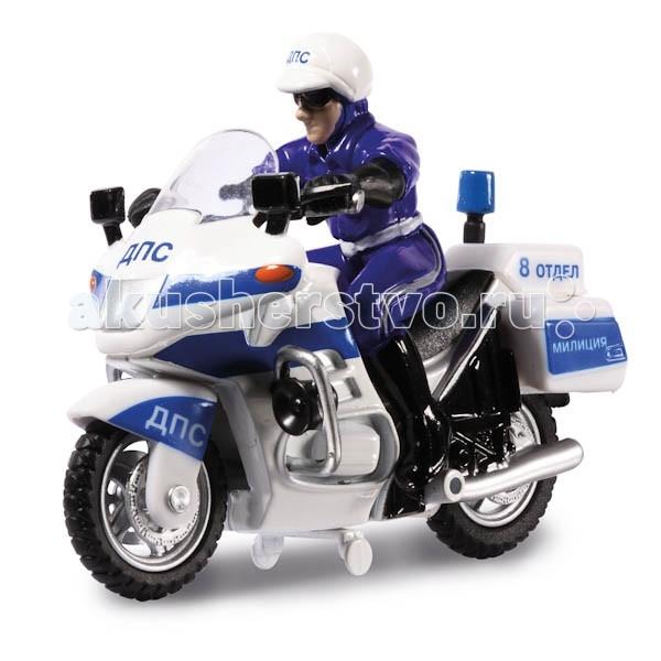 Машины Технопарк Мотоцикл ДПС с фигуркой какой мотоцикл до 60000рублей