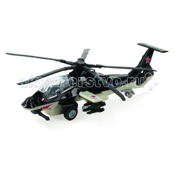 Вертолеты и самолеты Технопарк Вертолет Черная акула