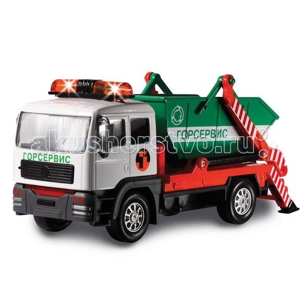 Машины Технопарк Машина Мусоровоз Горсервис мусоровоз orion камакс мусоровоз 765 разноцветный в ассортименте