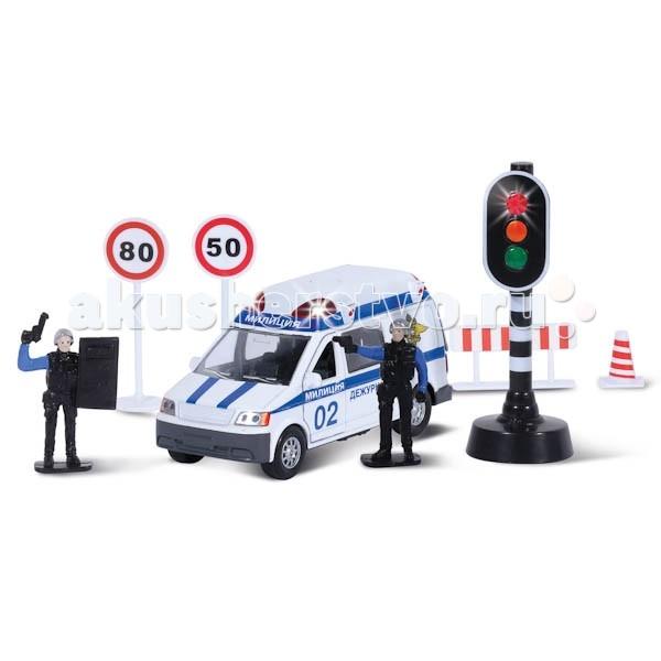 Машины Технопарк Набор Милиция/Полиция технопарк технопарк набор милиция со светофором и фигурками