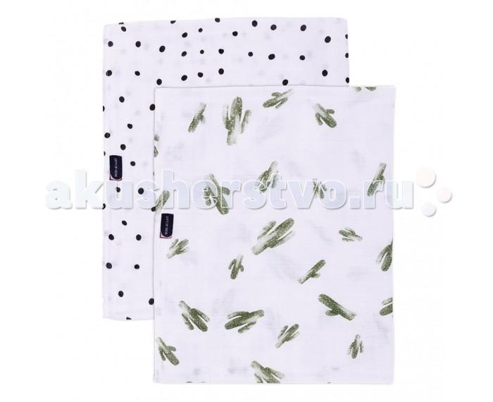 Постельные принадлежности , Пеленки Bebe au Lait Bamboo Muslin Saguaro/Dottie 2 шт. арт: 547021 -  Пеленки