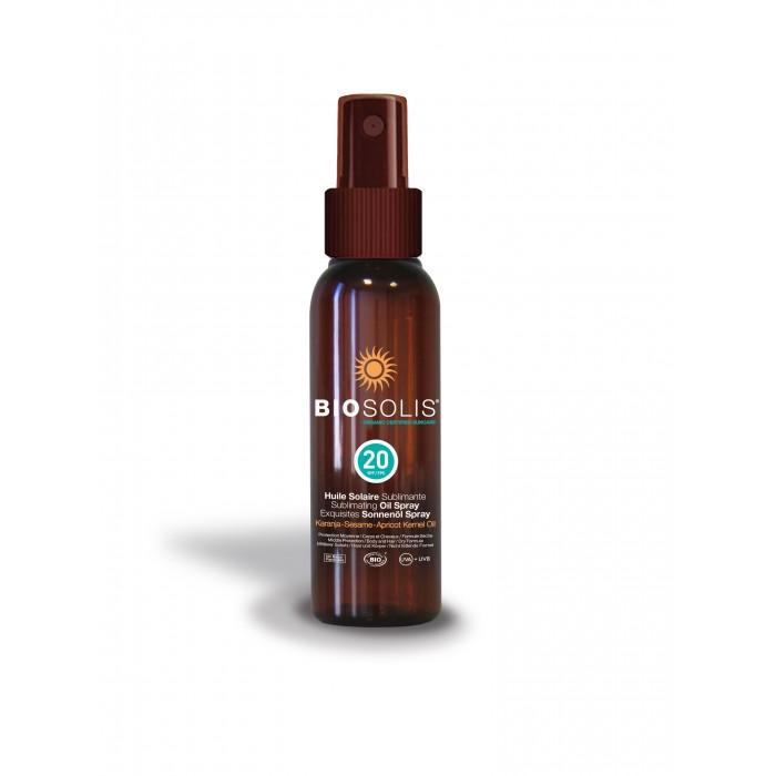 Солнцезащитные средства Biosolis Увлажняющее сублимированное солнцезащитное масло-спрей SPF20 100 мл