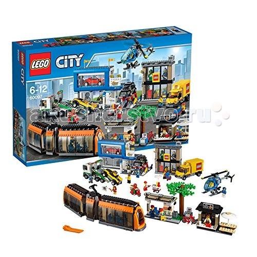 Конструктор Lego City 60097 Лего Город Городская площадьCity 60097 Лего Город Городская площадьКонструктор Lego City 60097 Лего Город Городская площадь  Конструктор LEGO City собирается из 1683 деталей и включает 14 минифигурок. Большой набор Лего Сити Городская Площадь призван существенно разнообразить ваш Лего городок! Это место с оживленным движением, развитой инфраструктурой и множеством городских строений.  Техника в комплекте: вертолет полиция, большой новый трамвай, грузовик Lego, 3 легковых автомобиля, эвакуатор, скутер, велосипед.  Здания на площади: трамвайная остановка, офис продаж Лего, автомастерская с подъемником, закусочная.  Количество деталей: 1683 шт.<br>