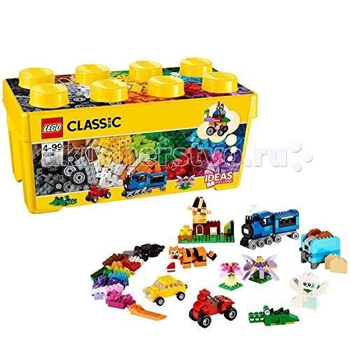 Конструктор Lego Classic 10696 Лего Классик Набор для творчества среднего размераClassic 10696 Лего Классик Набор для творчества среднего размераКонструктор Lego Classic 10696 Лего Классик Набор для творчества среднего размера  Включайте воображение и окунитесь в мир фантазий с набором кубиков LEGO®! Бесконечные возможности для сборки из классических кубиков 35 разных цветов и специальных деталей: двери, окна, колеса, глаза, пропеллеры и отделитель кубиков.   Если вы не знаете, с чего начать, вам помогут инструкции с идеями дизайнеров, от которых можно оттолкнуться. Это идеальный набор для начинающих строителей всех возрастов. Он также дополнит любую имеющуюся коллекцию LEGO.   Набор упакован в удобную пластиковую коробку.  Возможность собрать то, что придумал сам! 35 цветов деталей и различные элементы. Инструкции дизайнеров для оригинальных конструкций. Возможность дополнить любую имеющуюся коллекцию LEGO.  Количество деталей: 484 шт.<br>