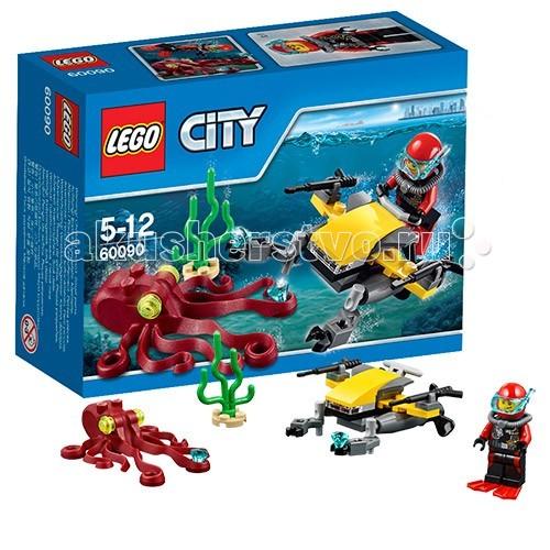 Lego Lego City 60090 Лего Город Глубоководный скутер lego 60139 город мобильный командный центр