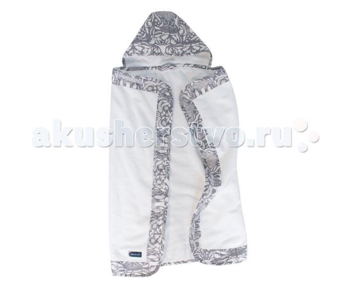 Купание малыша , Полотенца Bebe au Lait Полотенце с капюшоном Woodland арт: 547716 -  Полотенца