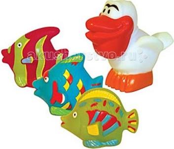 Игрушки для ванны ПОМА Набор для ванны Пеликан и компания игрушки для ванны игруша набор для ванны уточки