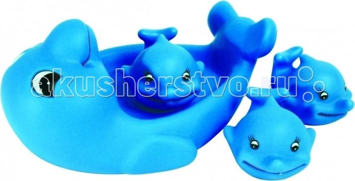 Игрушки для ванны ПОМА Набор для ванны Ребятки-дельфинятки игрушки для ванны пома набор для ванны транспорт 2