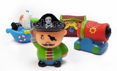 Игрушки для ванны ПОМА Набор для ванны Остров сокровищ игрушки для ванны пома набор для ванны транспорт 2