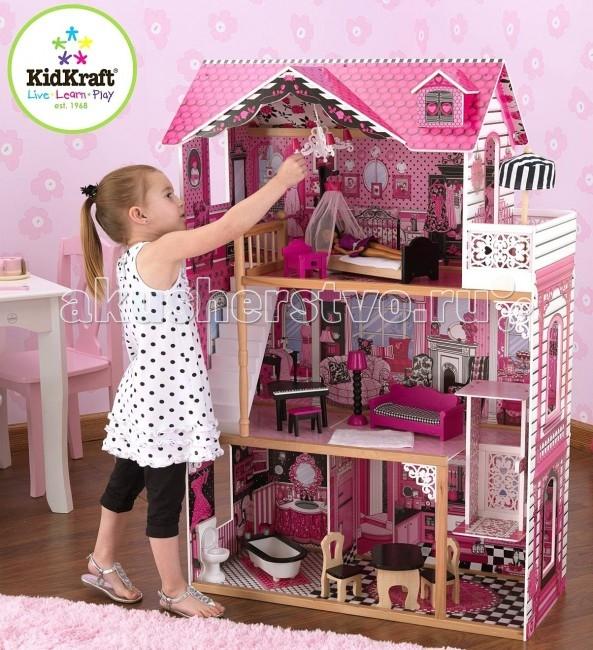 Кукольные домики и мебель KidKraft Кукольный домик Амелия с мебелью 14 элементов kidkraft кукольный домик кайли