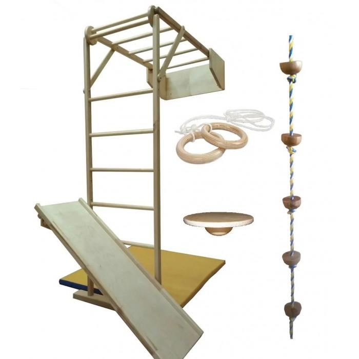 Картинка для Kidwood Деревянный складной спортивный уголок Жираф комплектация Игра