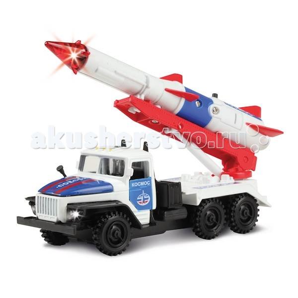 Машины Технопарк Машина Урал с ракетой Космос барабанная циклевочная машина со 206 бу