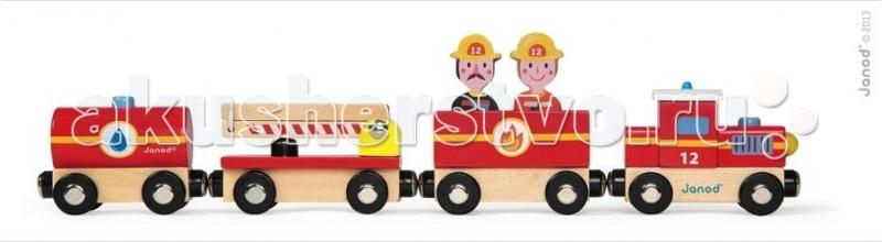 Купить Железные дороги, Janod Поезд Пожарные