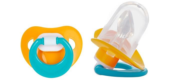 Пустышки ПОМА силиконовая ортодонтическая с футляром 4+ 1 шт. пустышки пома силиконовая ортодонтическая для сна 0 3 шт