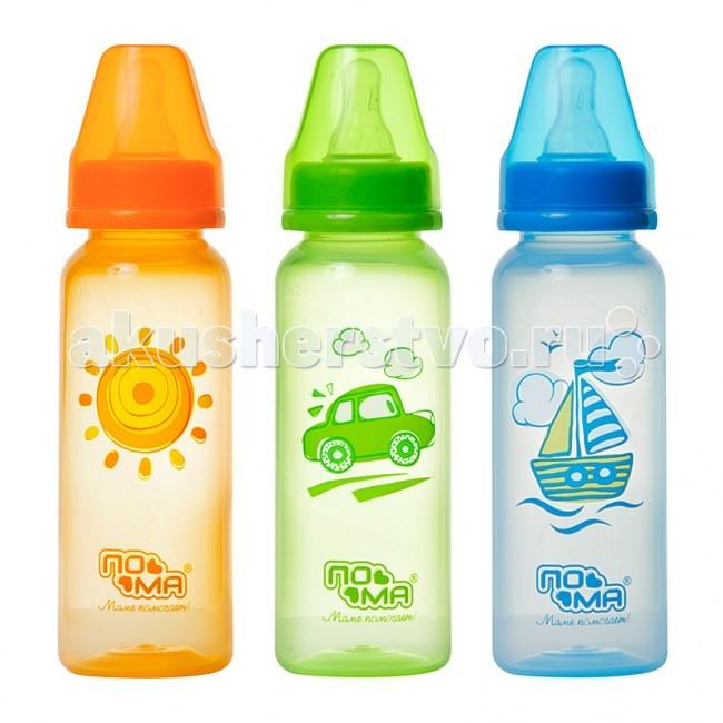 Бутылочки ПОМА полипропилен силиконовая соска 240 мл бутылочки пома полипропилен силик соска 140 мл