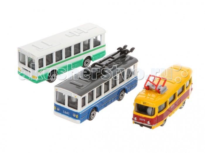 Машины Технопарк Набор из трех машин Городской транспорт машины dickie набор городской транспорт