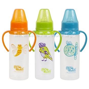 Бутылочки ПОМА полипропилен силик. соска с ручками 240 мл бутылочки пома полипропилен силик соска 140 мл
