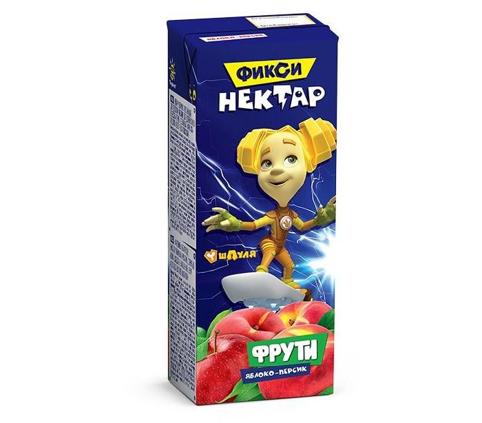 Купить Маленькое счастье Нектар Фрути Фиксики Яблоко-Персик с 5 мес., 200 г в интернет магазине. Цены, фото, описания, характеристики, отзывы, обзоры