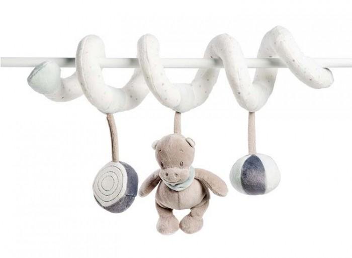 Подвесные игрушки Nattou Toy spiral Loulou Lea & Hippolyte Панда Леопард & Бегемот, Подвесные игрушки - артикул:550911