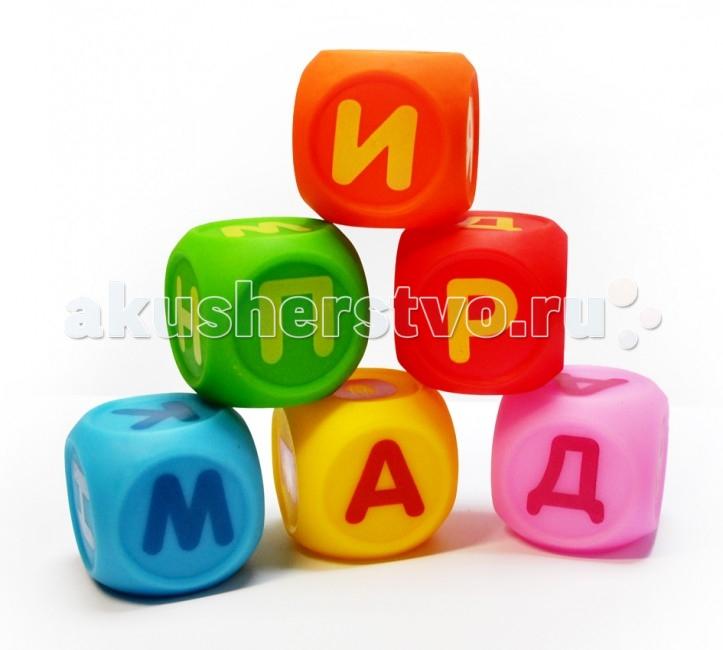 Игрушки для ванны ПОМА Набор кубиков Учим буквы 6 шт. игрушки для ванны tolo toys набор ведерок квадратные