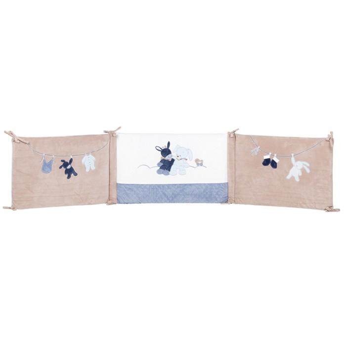 Бортик в кроватку Nattou Alex & Bibou Ослик и Кролик универсальный