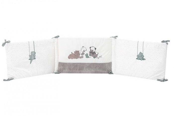 Бортик в кроватку Nattou Loulou Lea & Hippolyte Панда Леопард & Бегемот универсальный