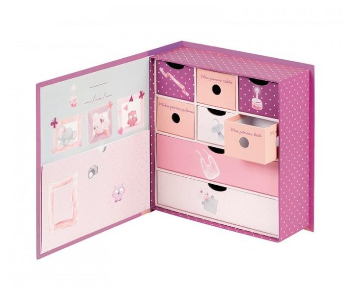Шкатулки Nattou Коробка для сокровищ Adele & Valentine Слоник и Мышка, Шкатулки - артикул:551361