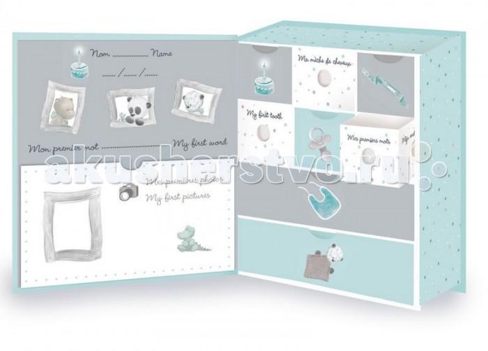 Шкатулки Nattou Коробка для сокровищ Loulou Lea & Hippolyte Панда Леопард & Бегемот, Шкатулки - артикул:551416