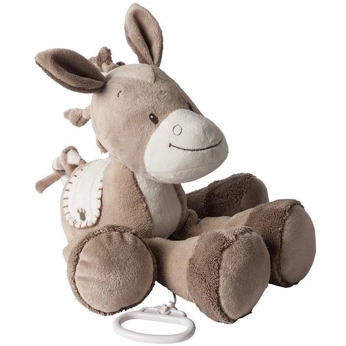 Мягкие игрушки Nattou Musical Soft toy Max Noa & Tom Лошадка музыкальная