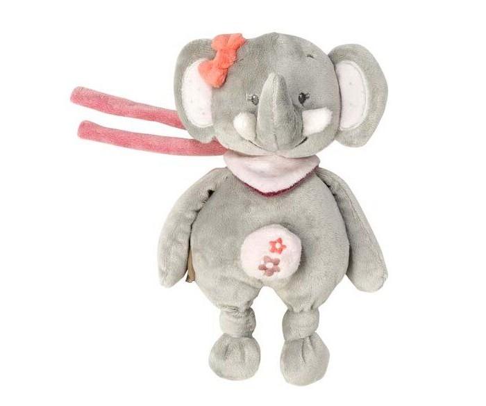 Мягкая игрушка Nattou Musical Soft toy Mini Adele & Valentine Слоник музыкальная 22 см