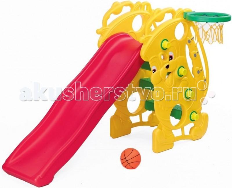 Горка BabyOne Ching-Ching Саксофон SL-09Ching-Ching Саксофон SL-09Материалы: полый высокопрочный структурный пластик  Основные характеристики:  - рекомендована для детей от 1.5 до 7 лет - допустимая нагрузка - до 80 кг - устойчивая и функциональная, лёгкая в сборке - для использования внутри и вне помещений  В комплект входит: пластиковая горка; лесенка; кольцо баскетбольное.  Размеры: Размер комплекса 153х53х100 см Длина спуска 137 см.  Вес 14 кг. Допустимая нагрузка: 80 кг.<br>