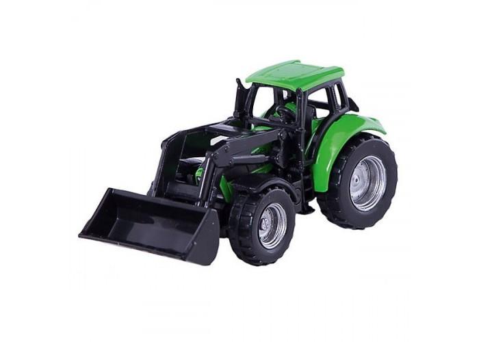 Машины Siku Трактор DEUTZ-FAHR с фронтальным погрузчиком siku трактор deutz agrotron с захватом для бревен