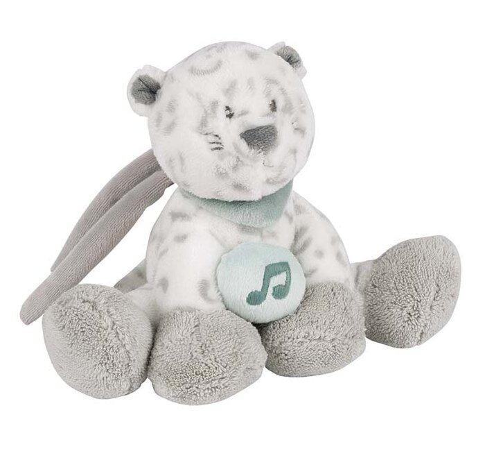 Мягкая игрушка Nattou Musical Soft toy Mini Loulou Lea & Hippolyte Леопард музыкальная