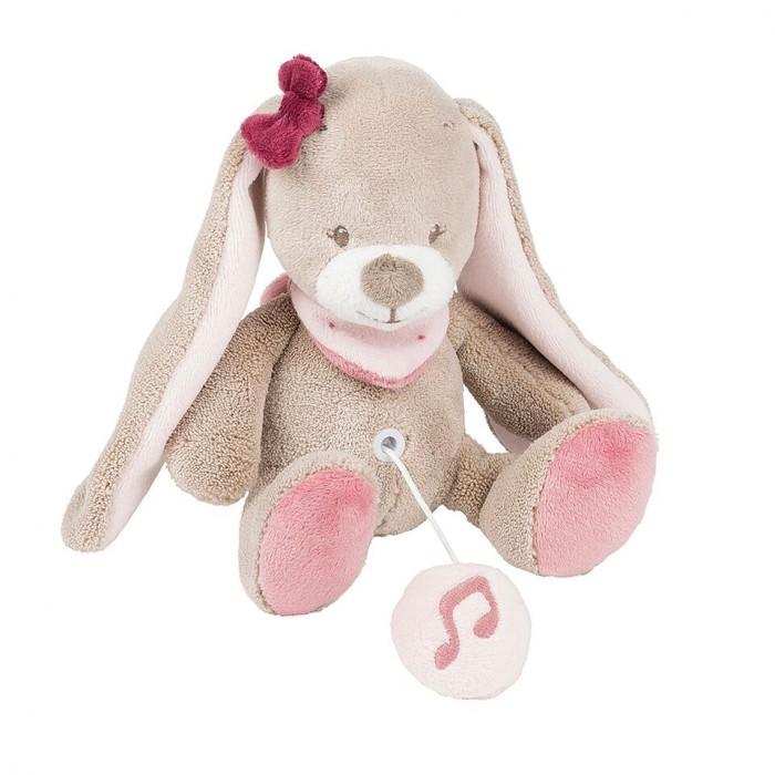 Мягкие игрушки Nattou Musical Soft toy Mini Nina Jade Lili Кролик музыкальная 22 см