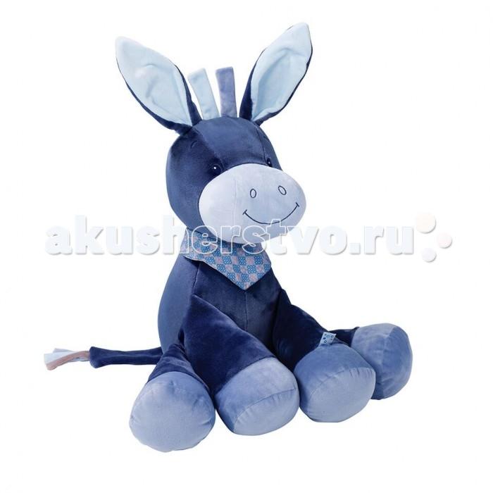 Мягкая игрушка Nattou Soft toy Alex & Bibiou Ослик 75 см