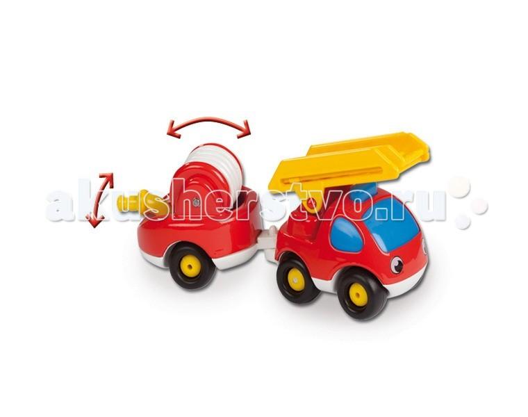 Машины Smoby Пожарный мини-грузовик с прицепом  grimm s грузовик мини синий с 1 года
