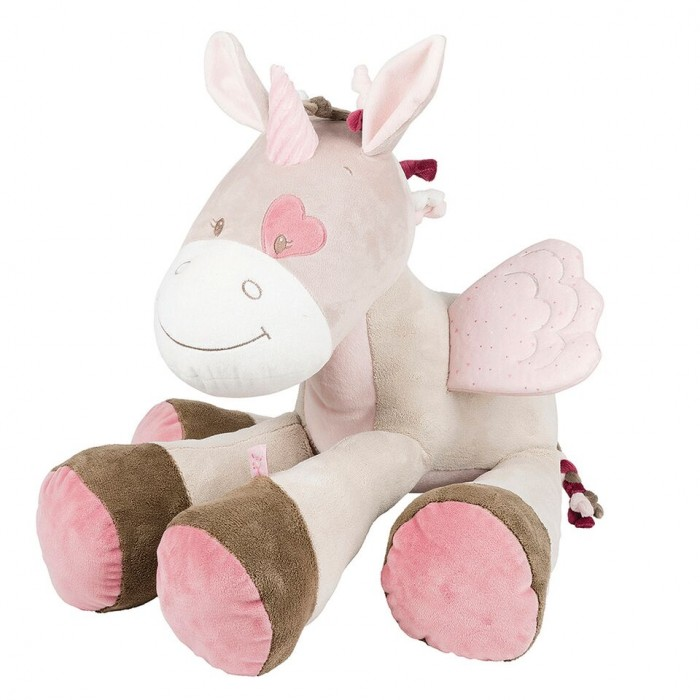 Мягкие игрушки Nattou Soft toy Nina Jade & Lili Единорог 75 см creative simulation plush soft fox naruto toy polyethylene