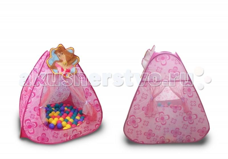 Палатки-домики BabyOne Ching-Ching Дом + 100 шаров Принцесса игровые домики babyone игровой домик ching ching вилла