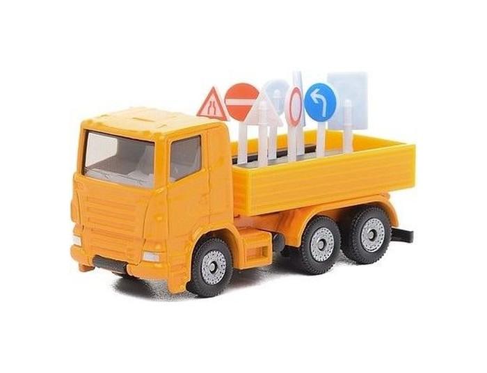 Фото - Машины Siku Грузовик с дорожными знаками 1322 бульдозер технопарк с дорожными знаками u1408a 4 12 5 см оранжевый